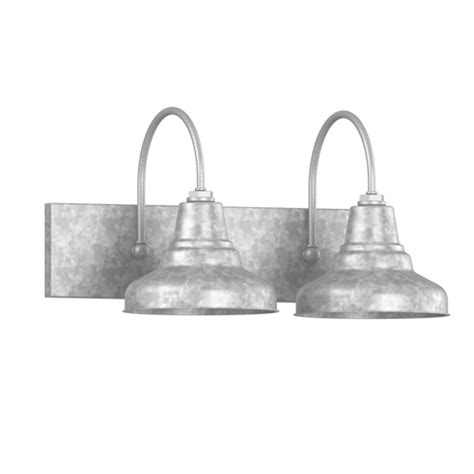 Galvanized Bathroom Lighting Universal 2 Light Vanity Sconce Barn Style Bathroom Lighting