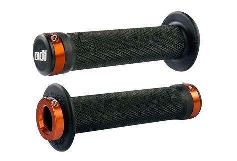 Odi Black by Odi Ruffian Bmx Lock On Grips 143mm Black Orange
