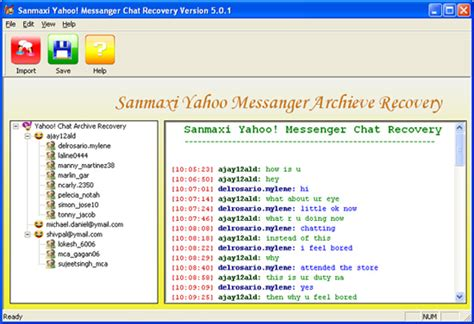 Live Chat Rooms Like Yahoo Messenger by Yahoo Chat History Extractor 5 0 1 Free