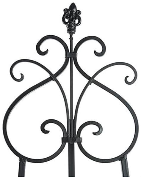 iron scroll floor adjustable wrought iron easel fleur de lis design
