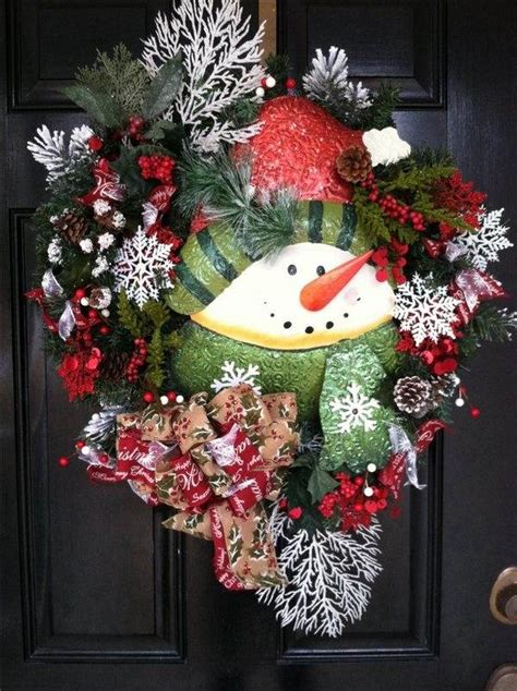 Ideas For Wreaths For The Front Door Snowman Wreath Ideas How To Make A Gorgeous Wreath