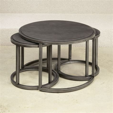 Nest Of Coffee Tables Hammary 297 911 Rotation Nesting Cocktail Table With Metal Base