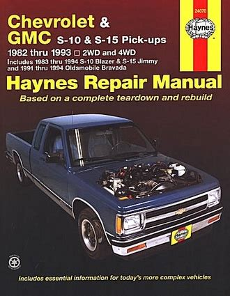 automotive repair manual 1993 gmc jimmy free book repair manuals s 10 pickup blazer s 15 jimmy typhoon repair manual 1982 1993