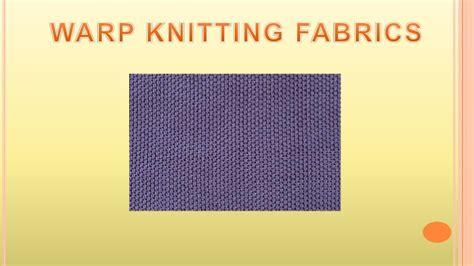 what is warp knitting warp knitting machine