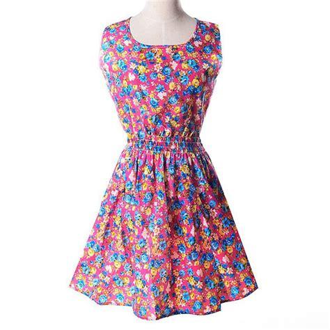 pattern dress chiffon summer style dress women dresses floral printed pattern