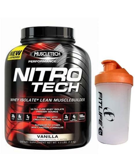 Muscletech Nitrotech Nitro Tech 4 Lbs Free Shaker muscletech nitrotech performance series milk chocolate whey isolate 4 lbs free shaker worth