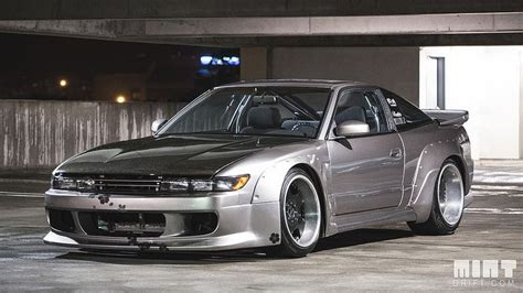 widebody nissan 240sx huge fender flares on top of wide body fenders i m on the