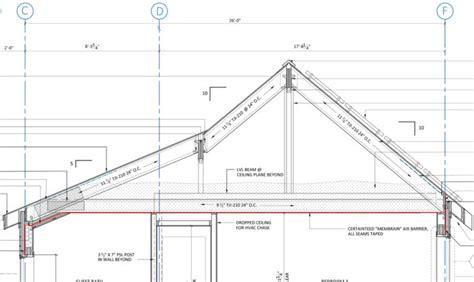 section of a roof roof framing design fine homebuilding