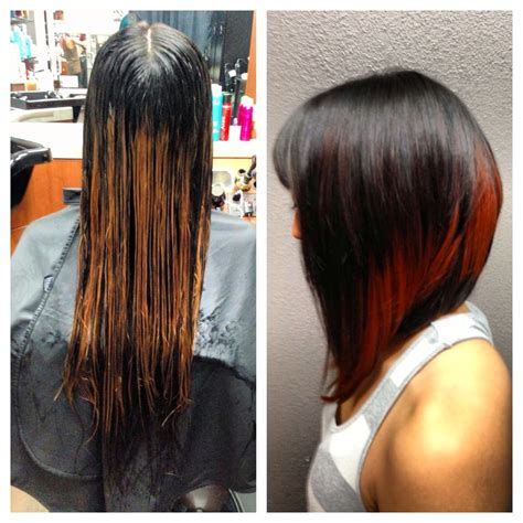 black hair color with a line cut 2015 long a line haircut color before after yelp