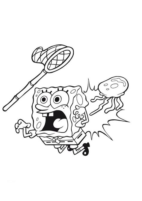 spongebob jellyfish coloring page gallery for gt jellyfish from spongebob coloring pages