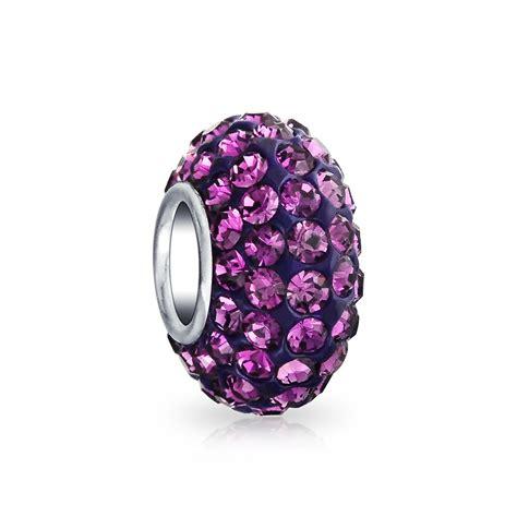 .925 Silver Swarovski Crystal Bead Sterling Silver Charm Fits Pandora