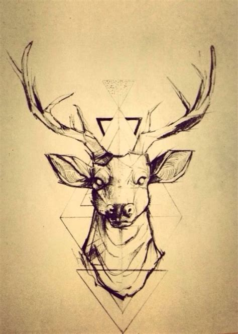 geometric elk tattoo geometric deer tumblr