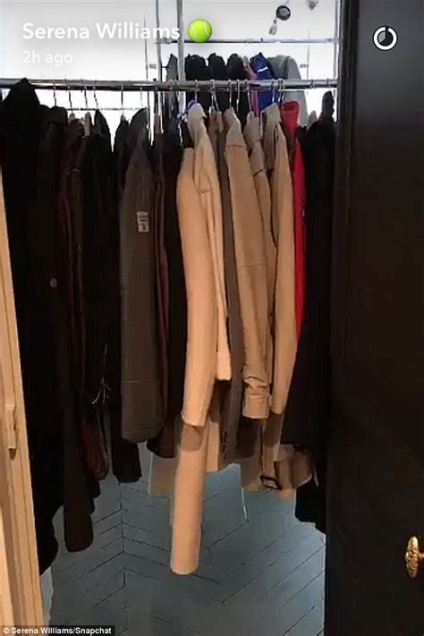Epic Wardrobe by Serena Williams Gives Snapchat Tour Of Apartment