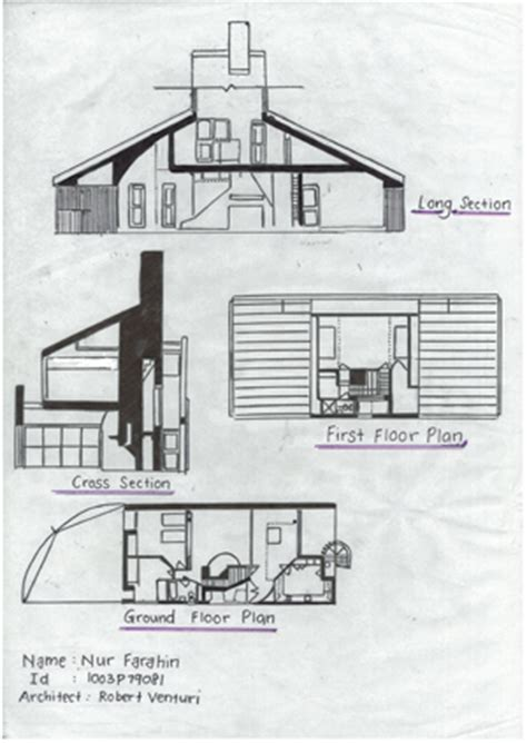venturi house plan vanna venturi house floor plans house and home design