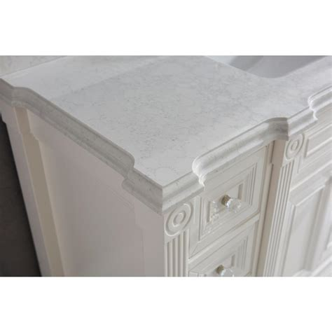84 inch White Finish Double Sink Bathroom Vanity Cabinet