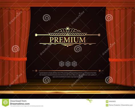 vorh nge m max rote vorh 228 nge des vektors im theater vorhang in der oper