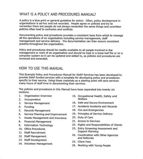 12 Policy And Procedure Templates To Download Sle Templates Nursing Policy And Procedure Manual Template