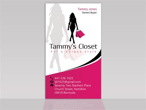 stores that make business cards masculine bold business card design for tammy jones by