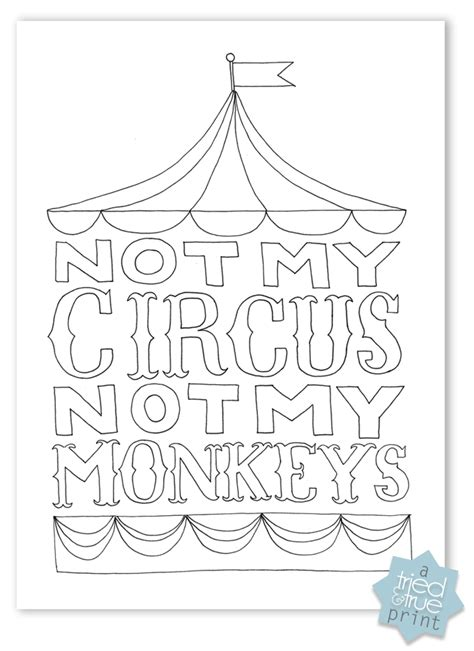 coloring pages not printable not my circus not my monkeys free printables tried true