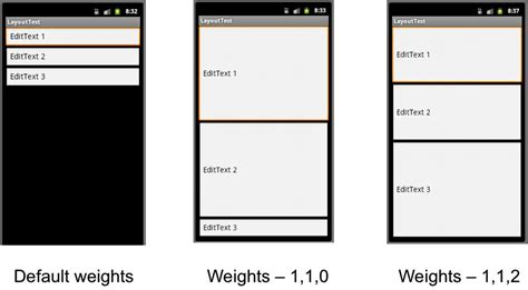 android layout weight cs 496 lecture 6 mobile ui part i android widgets and basic layouts