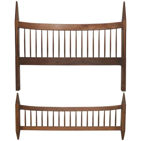 midcentury headboard mid century modern headboard and footboard for sale at 1stdibs