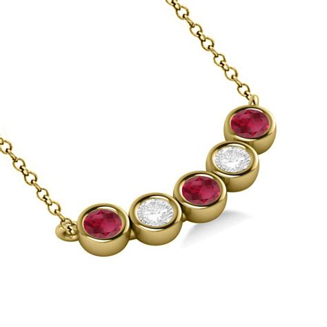 Ruby 5 25ct ruby 5 pendant necklace 14k yellow gold 0
