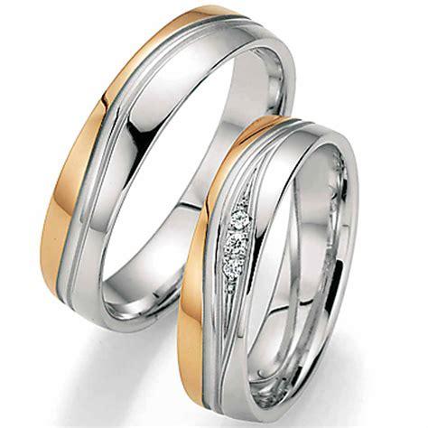 Trauringe Rosegold by Trauringe Ros 233 Gold Wei 223 Gold Mit Brillantverlauf