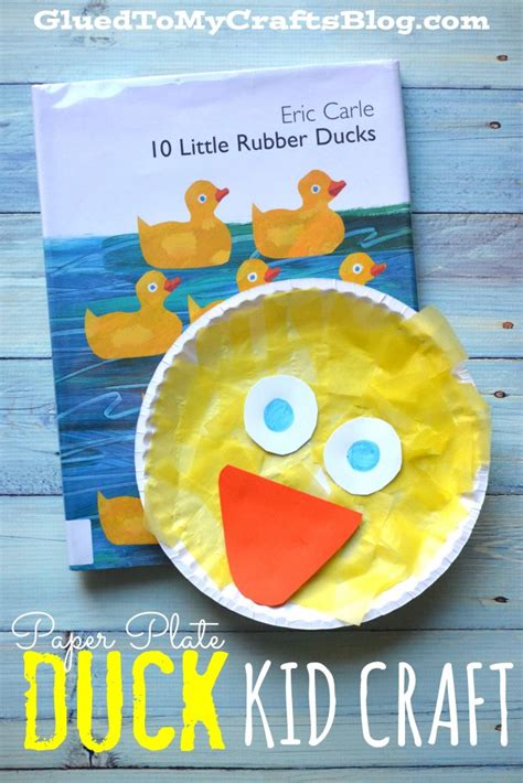 Paper Duck Craft - paper plate duck kid craft