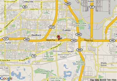 map of euless texas map of microtel inn and suites dallas euless dfw airport euless