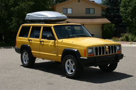 old yellow jeep stock ish wheels for my xj naxja forums north