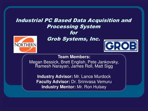 data acquisition and process using personal computers books ppt industrial pc based data acquisition and processing system for grob systems inc