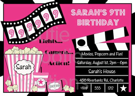 printable birthday invitations movie theme free free printable birthday invitations movie theme www