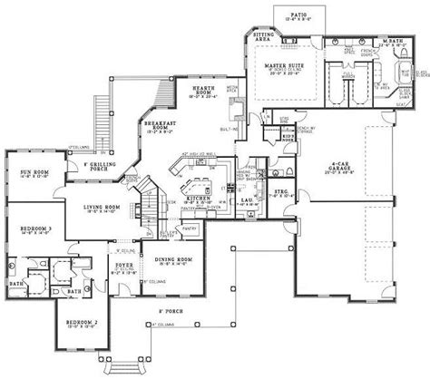 4 car garage floor plan house plans