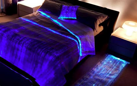 Turn It Off I Can T Sleep Fiber Optic Glowing Bed Cover Geekologie