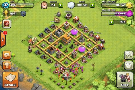clash of clans town hall 6 setups th6 setups best defence for clash of clan town hall level 6 game