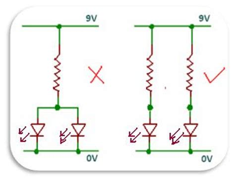 how to connect led diodes in series dioder elektronikkursus
