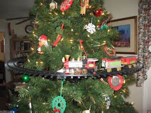 mounts in inside christmas tree holiday train track set