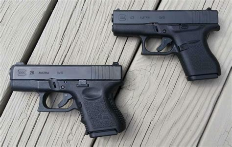 glock 17 vs glock 19 vs glock 26 glock 26 vs glock 43 which of the baby glocks to get