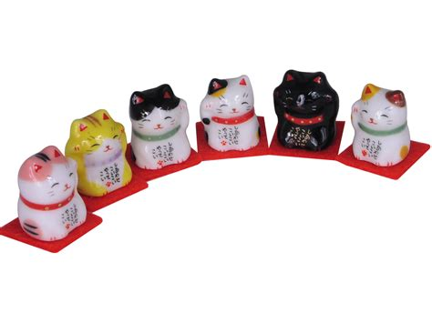 Ceramic Kitchen Canisters beckoning japanese lucky cat miniature good luck charm