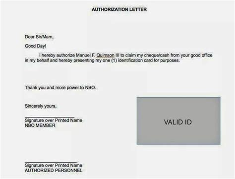 authorization letter to deposit to bank account in a flash nbo global tips for ofws frequently