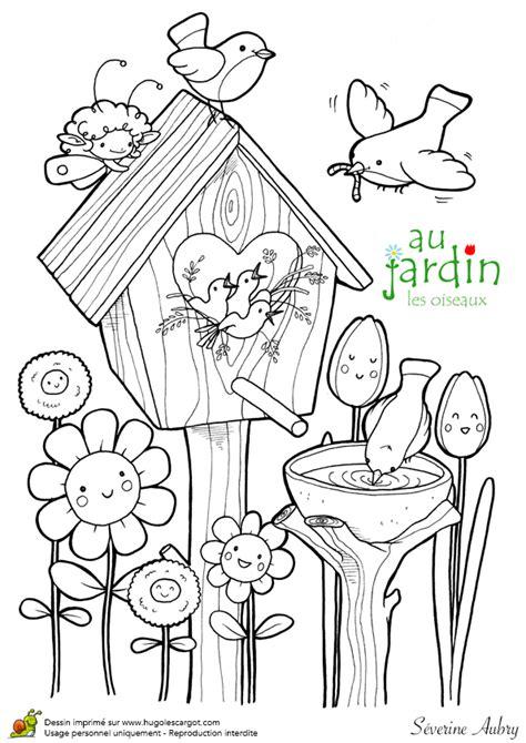 Coloriage Jardin Les Oiseaux