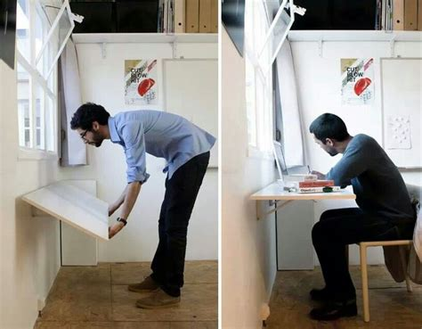 Small Fold Up Desk Wall Folding Desk For Small Place Clever Ideas Folding Desk Desks And Small Places