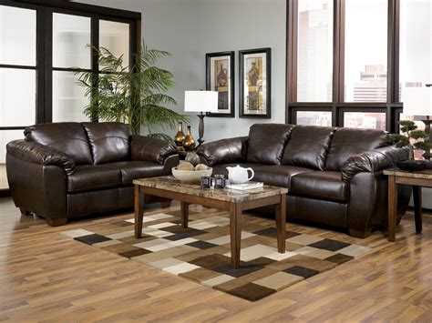 living room sets at ashley furniture durablend cafe sofa and loveseat leather living room sets