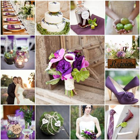wedding table decorations purple and green purple and green rustic wedding the blushing