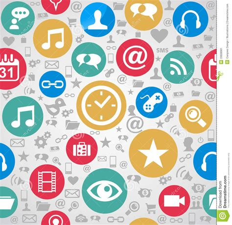 icon pattern background free colorful social media icons seamless pattern background