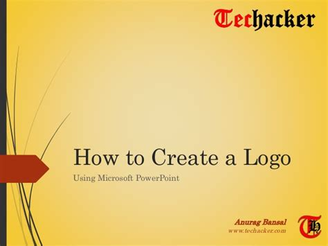design a logo with powerpoint how to create a logo using microsoft powerpoint