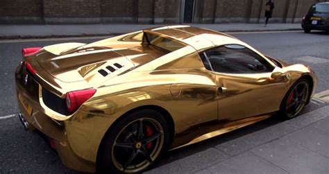 golden ferrari gold ferrari 458 spider awesome stuff 365