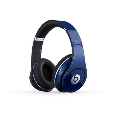 Headphone Beats By Dr Dre Hd beats by dr dre studio noise cancelling hd headphones with microphone blue iwoot