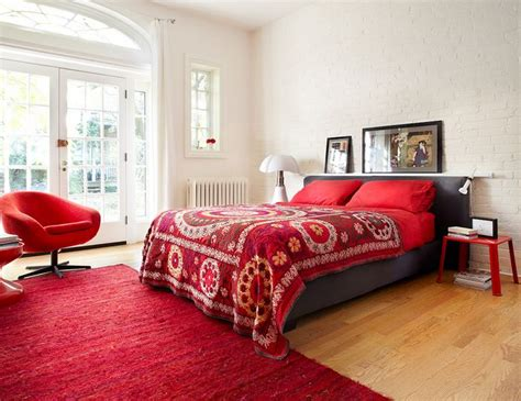 bright red bedroom monochromatic style in the bedroom one color many meanings