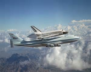 Space shuttle discovery flying atop aircraft newsdesk